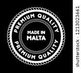 made in malta emblem  label ... | Shutterstock .eps vector #1213023661