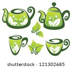 vector collection of decorated... | Shutterstock .eps vector #121302685
