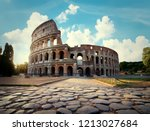 Ancient Colosseum In Rome In...