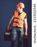 worker  handyman  repairman ... | Shutterstock . vector #1213032544