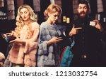 ladies and gentleman buy...   Shutterstock . vector #1213032754