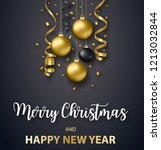poster merry christmas holiday. ... | Shutterstock .eps vector #1213032844