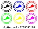 made in virginia   rubber stamp ...   Shutterstock .eps vector #1213033174