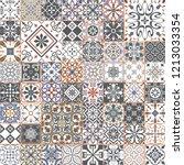 big vector set of tiles in... | Shutterstock .eps vector #1213033354