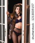 woman seductive appearance....   Shutterstock . vector #1213035157