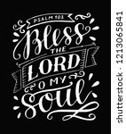 hand lettering bless the lord ... | Shutterstock .eps vector #1213065841