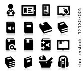 book icons   Shutterstock .eps vector #121307005