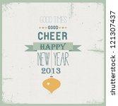 2013 happy new year | Shutterstock .eps vector #121307437