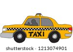 an image of a taxi car vehicle. | Shutterstock .eps vector #1213074901