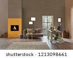 modern office decoration... | Shutterstock . vector #1213098661