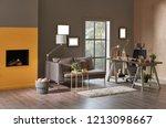 modern office decoration... | Shutterstock . vector #1213098667