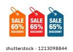 65  discount label symbols...   Shutterstock .eps vector #1213098844