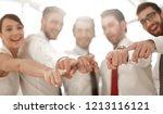 close up.modern business team ... | Shutterstock . vector #1213116121