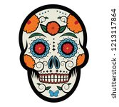 sugar skull to celebrate the... | Shutterstock .eps vector #1213117864