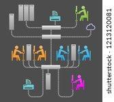 network communication system...   Shutterstock .eps vector #1213120081