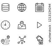 essential set icon set vector | Shutterstock .eps vector #1213134244