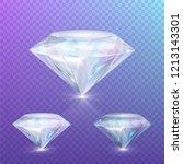 diamond set with royal gloss ... | Shutterstock .eps vector #1213143301