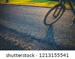 bikes in the sundown   Shutterstock . vector #1213155541