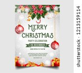 christmas merry brochure with... | Shutterstock .eps vector #1213159114