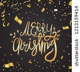 merry christmas text vector on... | Shutterstock .eps vector #1213159414