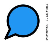 chat speech bubble | Shutterstock .eps vector #1213159861
