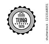 tuna emblem  label  badge... | Shutterstock .eps vector #1213168051
