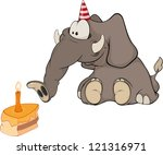 the elephant calf and a slice... | Shutterstock .eps vector #121316971