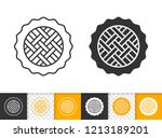 pie black linear and silhouette ... | Shutterstock .eps vector #1213189201