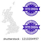 dotted black map of united... | Shutterstock .eps vector #1213204957