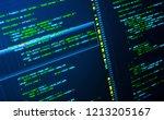green php code on dark blue... | Shutterstock . vector #1213205167