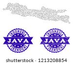 dotted black map of java island ... | Shutterstock .eps vector #1213208854
