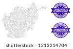 dotted black map of afghanistan ... | Shutterstock .eps vector #1213214704