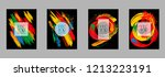 covers templates set with... | Shutterstock .eps vector #1213223191