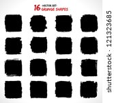 set of grunge vector shapes.... | Shutterstock .eps vector #121323685