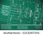 mechanical engineering drawings ...   Shutterstock .eps vector #1213247191