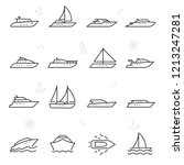 yacht  icon set. yachts  ship... | Shutterstock .eps vector #1213247281