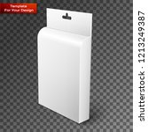 white product package box... | Shutterstock .eps vector #1213249387