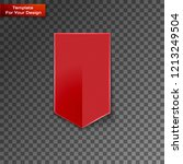red bookmarks isolated on... | Shutterstock .eps vector #1213249504