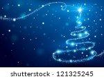 magic christmas tree | Shutterstock . vector #121325245