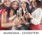 women toasting with champagne... | Shutterstock . vector #1213267534