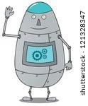 happy fat robot   Shutterstock .eps vector #121328347