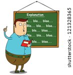 fat teacher explaining subject | Shutterstock .eps vector #121328365