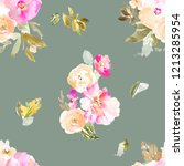 modern watercolor floral... | Shutterstock . vector #1213285954