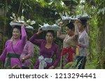 all people in ubud village bali ... | Shutterstock . vector #1213294441