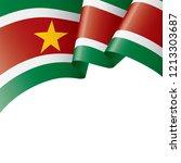 suriname flag  vector...   Shutterstock .eps vector #1213303687