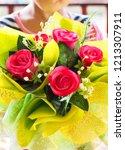 fake bouquet and flower. | Shutterstock . vector #1213307911