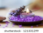 spa background  candle in a... | Shutterstock . vector #121331299