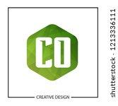 initial letter co logo template ... | Shutterstock .eps vector #1213336111
