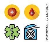 clinic icon set. vector set...   Shutterstock .eps vector #1213343074