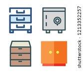 drawer icon set. vector set... | Shutterstock .eps vector #1213352257